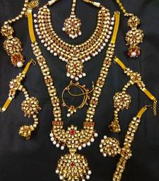 Buy Indian Ethnic Complete Kundan Bridal Set.. bridal-set online
