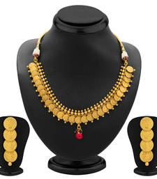 Buy Moddish Gold Plated Temple Jewellery Coin Necklace Set for Women necklace-set online