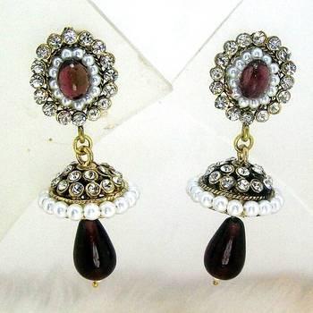 Victorian Mini Tokri Earring Violet Shady