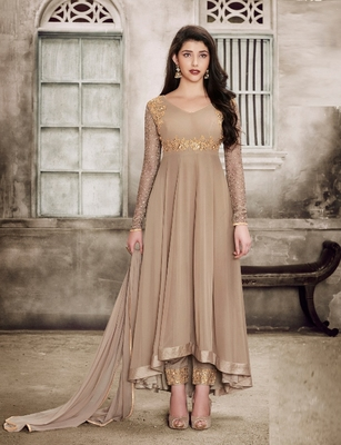 Chiku Embroidered Faux Georgette Anarkali Suit