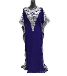 Buy Royal blue georgette embriodery islamic kaftans