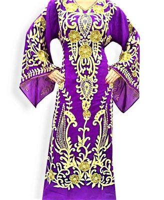 Purple georgette embriodery islamic kaftans