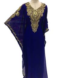 Blue georgette embroidery islamic kaftans
