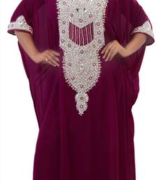 Magenta georgette embriodery islamic kaftans