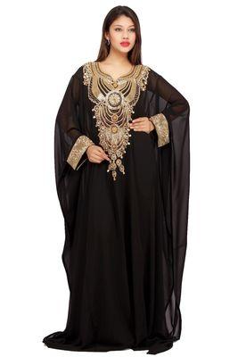 Black georgette embriodery islamic kaftans