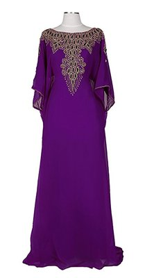 Purple georgette embriodery islamic kaftans