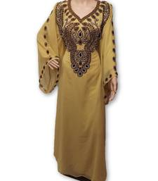 Yellow georgette embroidery islamic kaftans