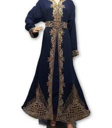 Navy blue georgette embriodery islamic kaftans