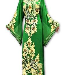 Green georgette embroidery islamic kaftans