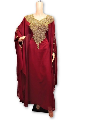 Red georgette embriodery islamic kaftans