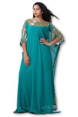 Blue georgette embriodery islamic kaftans