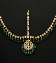 Buy Green Color Kundan Work Matha Patti Other online