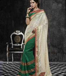 Buy multicolor embroidered brasso-saree with blouses saree with blouse wedding-saree online