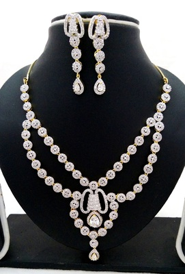 Multicolor american_diamonds necklace sets