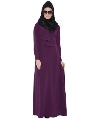 Violet Kashiboo Plain Islamic Abaya