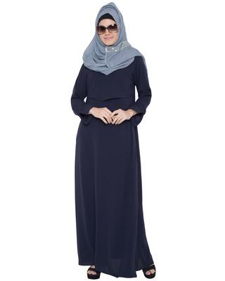 Dark Blue Kashiboo Plain Islamic Abaya