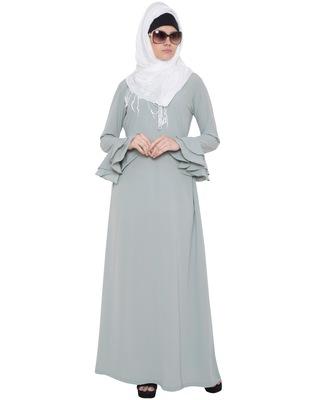 Grey Kashiboo Plain Islamic Abaya