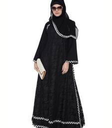 Black premium nida lace lace islamic abaya