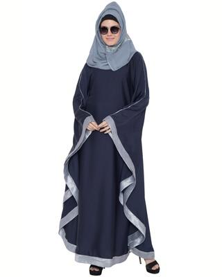 Blue nida lace lace islamic abaya