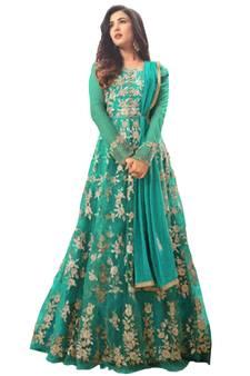 86543407dc Green Suits Online   Buy Green Color Salwar Kameez from Best ...
