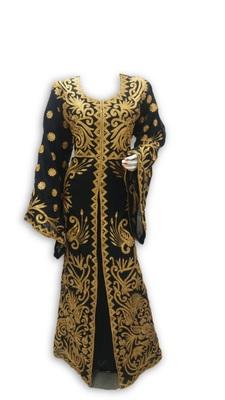 Black georgette embroidered islamic kaftans