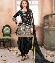 Black mirror work taffeta salwar kameez patiala-salwar