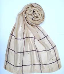 Yellow cotton designer hijab stole for women
