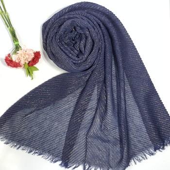 Blue Cotton Designer Hijab Stole For Women