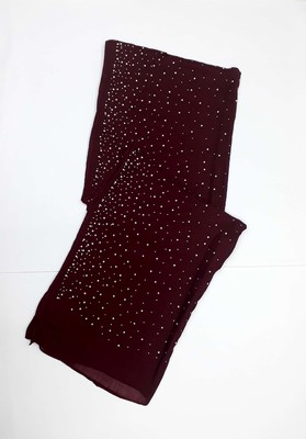 Maroon Cotton Designer Hijab Stole For Women