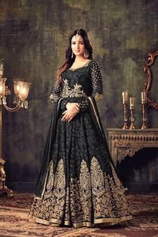 ffb6ea86052 Black Salwar Suit – Buy Latest Black Color Salwar Kameez Online