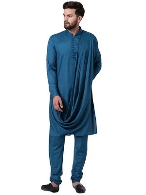 Green Viscose Plain Kurta Pajama