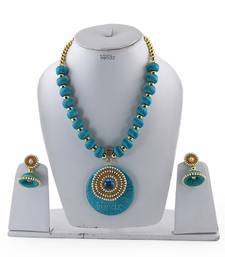 Buy Turquoise crystal necklaces Necklace online