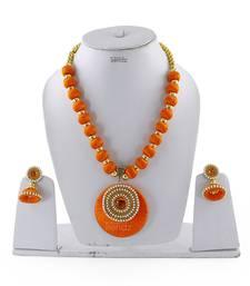 Orange Crystal Necklaces
