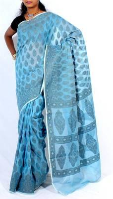 Supernet cotton banarasi saree