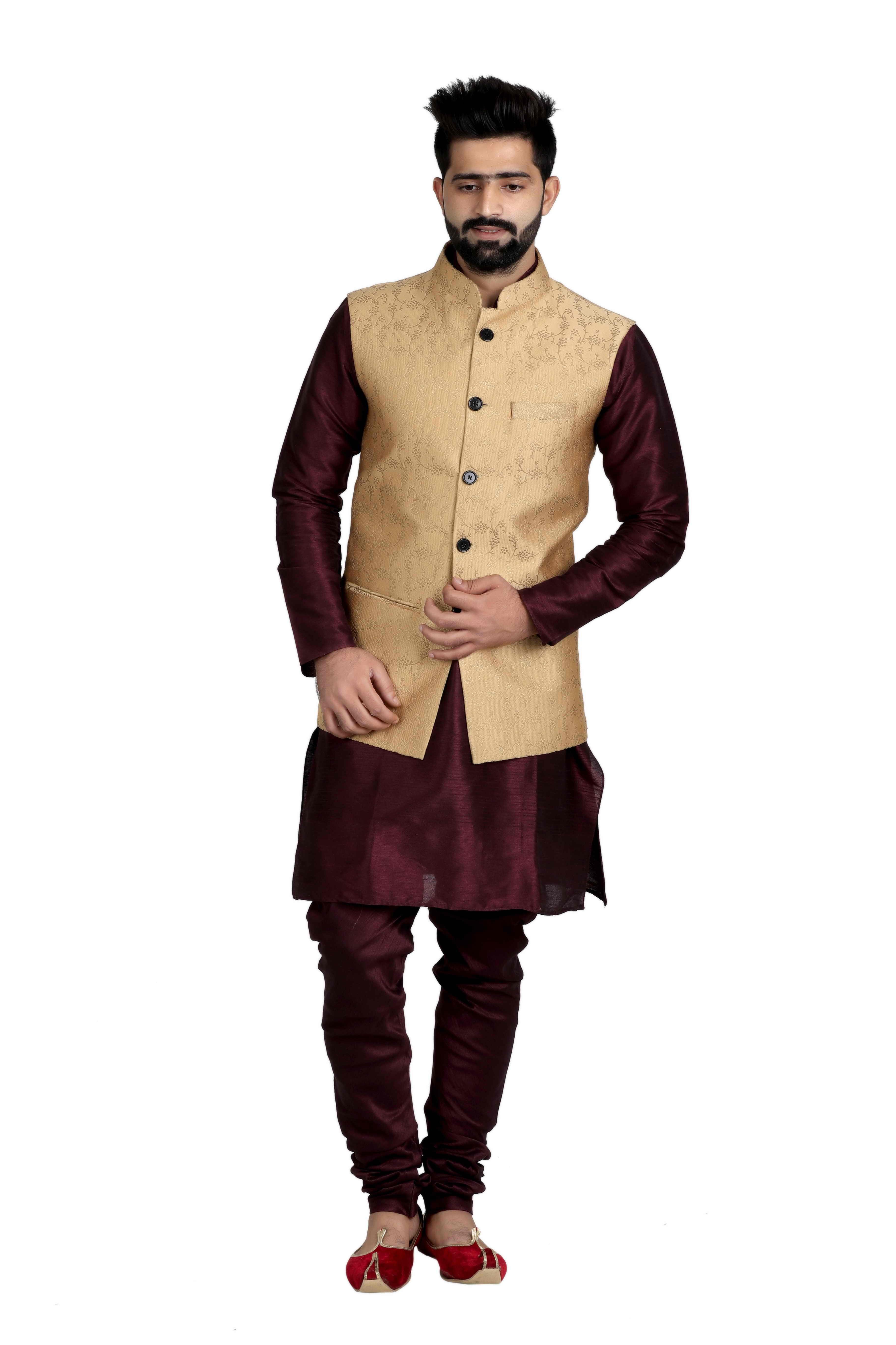 b1540ffbbd9 Nehru Jacket – Latest Traditional Nehru   Modi Jackets for Men Online