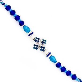 Dashing Aqua  And  Royal Blue Stylish Rakhi