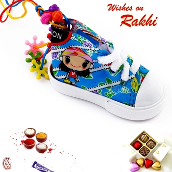 Colourful Lumba Rakhi For Girl Child
