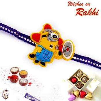 Minion With Speaker Motif Kids Rakhi