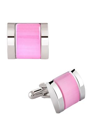 Pink crystal Cufflink