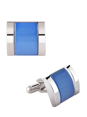 Blue crystal Cufflink
