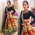multicolor embroidered art silk unstitched lehenga