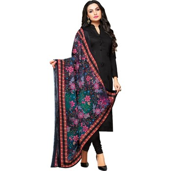 Black digital print cambric salwar