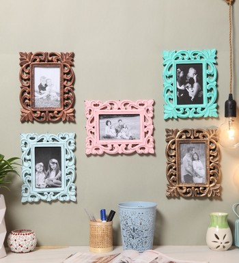 Buy Wooden Handcrafted Collage Photo Frames Distress Finish Wall