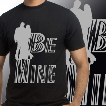 Be Mine Slogan Mens T-shirt