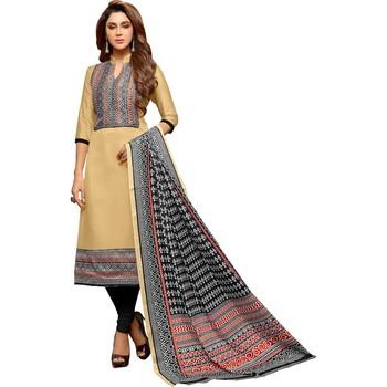 3a7ef9af65 Beige digital print silk salwar with dupatta - Mf Next Com - 2417405