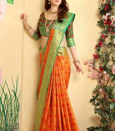 Buy Multicolor woven jacquard saree with blouse women-ethnic-wear online
