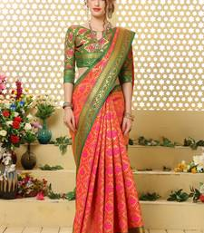 Buy multicolor woven jacquard saree with blouse patola-saris online