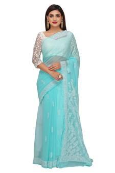 f49953d5e212da Chikankari Sarees   Chikan Sarees Online Shopping   Buy Designer ...
