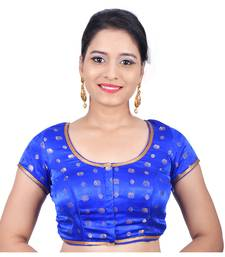 Blue satin stitched readymade blouse