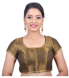 Buy Black brocade stitched readymade blouse readymade-blouse online